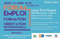 Forum de l'emploi, de la formation et de  l'orientation professionnelle  à Aulnay!