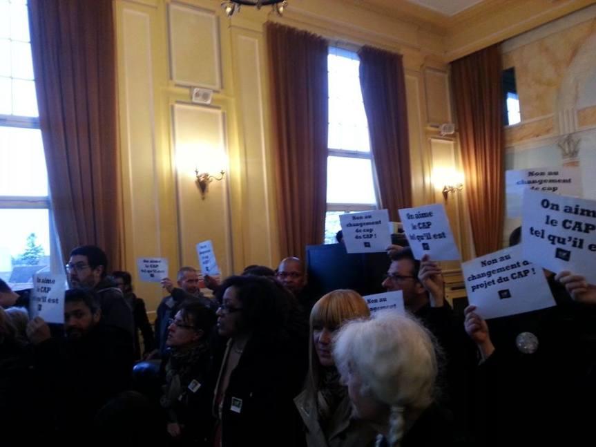 Conseil Municipal du 6 Avril : le maire refuse la parole aux défenseurs du CAP!