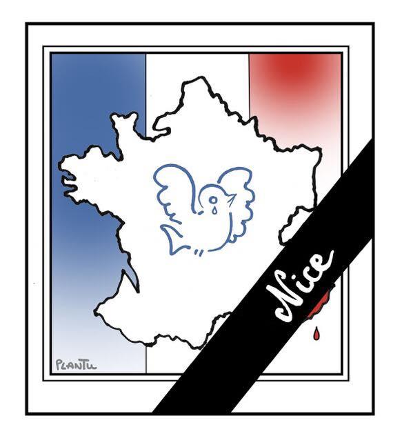 Hommage aux victimes de l'attentat deNice