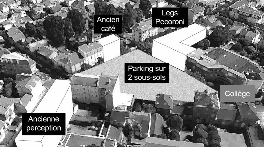 Place J.C Abrioux ex Camélinat: un parking souterrain contesté à 6,3 millionsd'euros.
