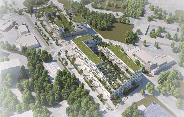 Projet immobilier à la future gare du Grand Paris,  Eiffage et Verrecchia remportent laconsultation.