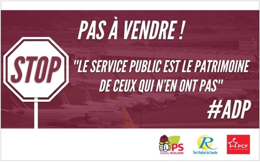 Pétition des conseillers municipaux d'Aulnay-sous-Bois PS, PRG, PC contre la privatisation des Aéroports deParis.