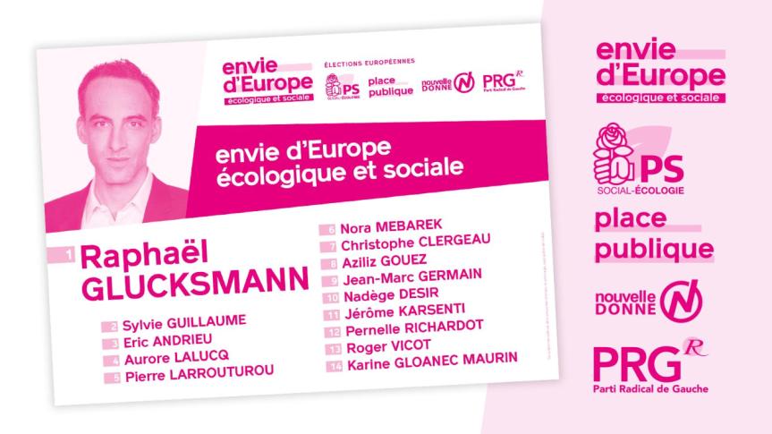 Elections européennesdu 26 mai 2019,  un seul tour pour choisir la liste portée par RaphaëlGlucksmann.