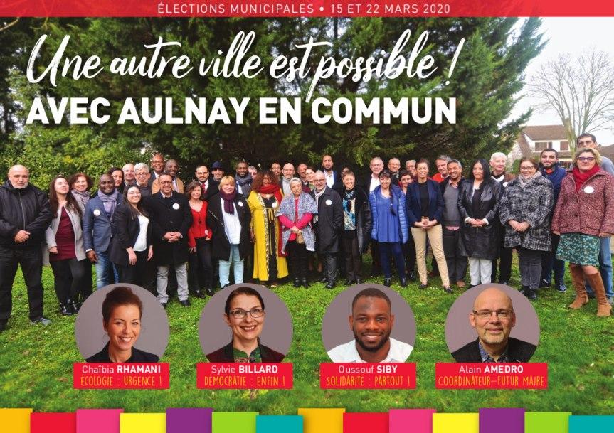 Elections Municipales 2020: un quatuor pour mener la liste «AULNAY EN COMMUN»